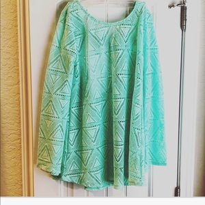 ⭐️ Bell Sleeve Lace Swim Coverup